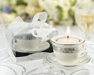 Teacups and Tealights Miniature Porcelain Tealight Holders Baby Shower Favors