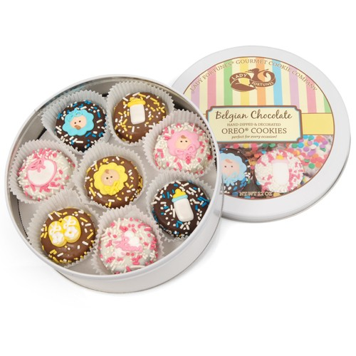 New Baby Tin of 16 Belgian Chocolate-Covered Oreos