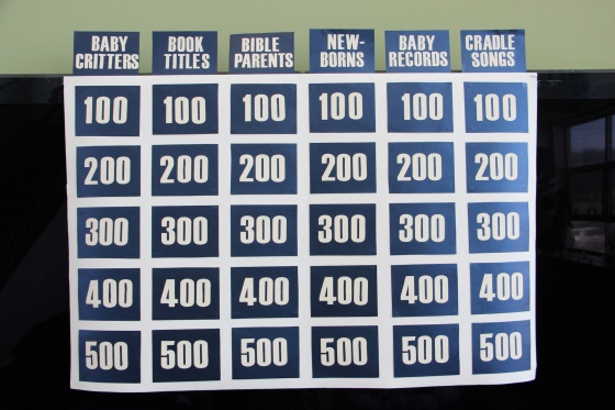 Baby Jeopardy Baby Shower Game