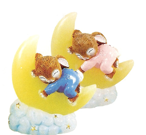 Baby Moon Bunny Candles