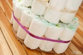 Diaper cake from wikihow